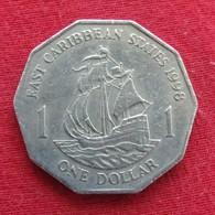 East Caribbean States 1 Dollar 1998 KM# 20  Caribbean Caraibas Caraibes Orientales - Oost-Caribische Staten