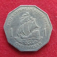 East Caribbean States 1 Dollar 1998 KM# 20  Caribbean Caraibas Caraibes Orientales - Caribe Oriental (Estados Del)