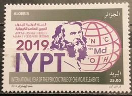 Algeria, 2019, International Year Of The Periodic Table (MNH) - Química