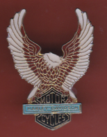 59561-Pin's.moto Harley Davidson.aigle.2 Tacks. - Motos