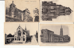 Environs 360 Cartes (drouille) Sur Eglises Cathedrales  De France - Cartes Postales
