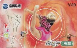 TARJETA TELEFONICA DE CHINA. Gimnasia Rítmica - Rhythmic Gymnastics. YLCRC-JG-2004--6-(4-3). (714). - Deportes