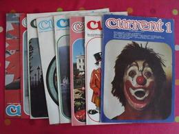 Lot De 9 Revues En Anglais. Current. 1975 - Langue Anglaise/ Grammaire