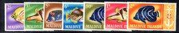 APR2159 - MALDIVE 1967 , Serie  Yvert N. 214/220  ***  MNH  (2380A) . Pesci Fish - Maldive (1965-...)