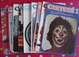 Lot De 9 Revues En Anglais. Current. 1975 - English Language/ Grammar