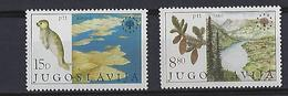 Yougoslavie: 1827/1828 ** Protection De L'environnement - Emblème De L'institut Européen - Neufs