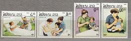 LAOS 1985 Medicine Children MNH (**) 874-877 #24742 - Laos