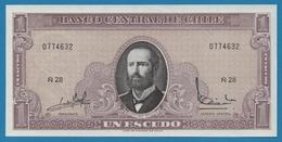 CHILE 1 EscudoND (1964)Serie# Ñ28 0774632  P# 136 - Chile