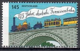 Bund MiNr. 3070 ** 175 Jahre Deutsche Ferneisenbahn - Nuovi