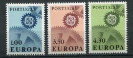 14188 PORTUGAL  N° 1007/9 **  Série  Europa  1967   TB - 1910-... République