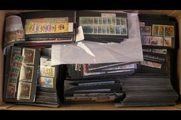 COMMONWEALTH 1960's - 1990's SETS ON STOCK CARDS. A Carton Containing A Large Holding Of Almost Entirely Never Hinged Mi - Stamps