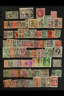 BRITISH COMMONWEALTH SORTER CARTON. All Periods Interesting Mint & Used Accumulation On Various Leaves, Stock Pages, In  - Stamps