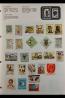 WORLD COLLECTION Late 19th Century To Early 2000's Mint & Used Chiefly All Different Stamps In Three Albums, We See Aden - Timbres