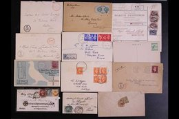 WORLD COVERS AND CARDS RANGE TO 1951 Interesting Accumulation Including 1902 OAS Cover From Kroonstad To England Franked - Stamps