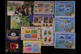 BRITISH COMMONWEALTH MINIATURE SHEETS Mostly 1970's-1990's SUPERB NEVER HINGED MINT HOARD Of Mini-sheets With Only Littl - Timbres