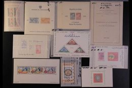 MINIATURE SHEETS 1930's-1990's WORLD NEVER HINGED MINT HOARD Of Mini-sheets With Light Duplication In Places In A Small  - Timbres