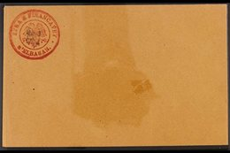 1919 DURRES GOVERNMENT POST. 1919 (1 Gr) Postal Stationery Envelope, Michel U1, Very Fine Unused With Small Mark On Fron - Albania