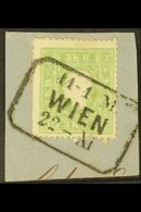 1859 3kr Green, Mi 12II, SG 24, Fine Used On Small Piece With Boxed Wien Cancel. For More Images, Please Visit Http://ww - Austria