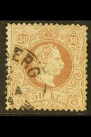 1874-84 50kbrown, Fine Printing,perf.12, Mi 41 II D, Small Wrinkle On Corner, Otherwise Fine Used With C.d.s. Postmark - Austria
