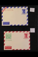 AEROGRAMMES 1950-1957PRINTED TO PRIVATE ORDER Fine Unused All Different Collection. With Stamp Centenary (2), UPU Anniv - Austria