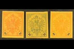 BOSNIA AND HERZEGOVINA 1901-05 Arms Complete Set Of IMPERF PLATE PROOFS Printed On Ungummed Ochre Medium Paper, Michel 2 - Austria