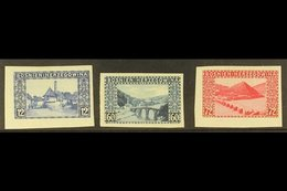 BOSNIA AND HERZEGOVINA 1912 Landscapes Complete IMPERF Set, Michel 61/63 U (SG 359/61 Var), Very Fine Mint, Very Fresh.  - Austria