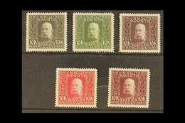 BOSNIA AND HERZEGOVINA 1912-14 10k Francis Joseph I Complete Set Of PERFORATED COLOUR PROOFS Printed In Five Different U - Austria