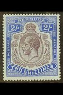 1918-22 2s Purple And Blue, Damaged Leaf At Bottom Right, SG 51bf, Fine Mint. For More Images, Please Visit Http://www.s - Bermuda