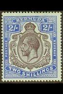 1918-22 2s Purple & Blue On Blue, Wmk Mult Crown CA, BROKEN CROWN & SCROLL Variety (early Stage), SG 51bb, Fine Mint. Fo - Bermuda