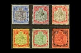 1918-22 KGV Wmk Mult. Crown CA, High Values Set, SG 51b/55, Very Fine Mint (6 Stamps). For More Images, Please Visit Htt - Bermuda
