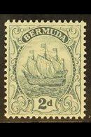 1922-34 2d Grey Ship, Watermark Reversed, SG 80x, Fine Nhm. For More Images, Please Visit Http://www.sandafayre.com/item - Bermuda