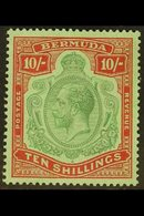 1924-32 10s Green & Red On Pale Emerald, Wmk Script CA, SG 92, Very Fine Mint. For More Images, Please Visit Http://www. - Bermuda