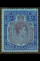 1942 2s Purple And Blue On Deep Blue, Gash In Chin, SG 116cf, Very Fine Mint. For More Images, Please Visit Http://www.s - Bermuda