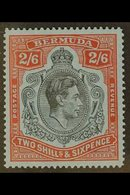 1942 2s.6d Black And Red On Grey Blue, LINE PERF 14¼, SG 117a, Superb Never Hinged Mint, Usual Streaky Gum. For More Ima - Bermuda