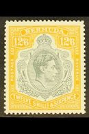 1950 12s6d Grey & Pale Orange Perf 13, Chalky Paper, SG 120e, Never Hinged Mint, For More Images, Please Visit Http://ww - Bermuda