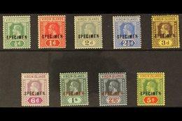 """1913 - 19 Geo V Die I Set Complete, Overprinted """"Specimen"""", SG 69s/77s, Very Fine Mint. (9 Stamps) For More Images, Plea - British Virgin Islands"""