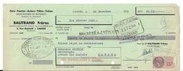 D 06  GRASSE 2 Vieilles Lettres De Change 1935 BALITRAND FRERES CANNES Parfait Etat N057 - Lettres De Change