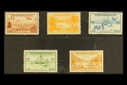 1933 Labrador Airmail Set, SG 230/4, Very Fine Mint. (5 Stamps) For More Images, Please Visit Http://www.sandafayre.com/ - Newfoundland And Labrador