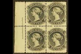 1860 1c Black On White Paper, SG 18, Marginal Inscription Block Of 4, Very Fine Mint. For More Images, Please Visit Http - Nova Scotia