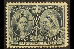 "1897 15c Slate ""Jubilee"", SG 132, Fine Cds Used. For More Images, Please Visit Http://www.sandafayre.com/itemdetails.a - Canada"