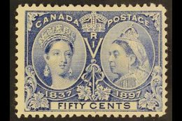 1897 Jubilee 50c Pale Ultramarine, SG 134, Fine Mint. For More Images, Please Visit Http://www.sandafayre.com/itemdetail - Canada