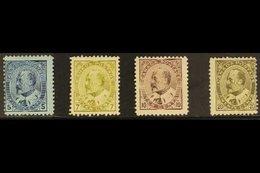 1903-12 King Edward VII Mint Group With 5c Blue On Bluish, SG 178, 7c Greenish-bistre, SG 181, 10c Brown-lilac, SG 182,  - Canada