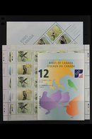 1996-2001 Birds Sets In Se-tenant Sheetlets, Plus 2001 Booklet, SG 1673/6, 1717/20, 1779/82, 1865/8, 1974/81, 2058/65, & - Canada