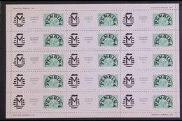 POSTAL STRIKE LOCAL ISSUES WINNIPEG - PEMBINA / PEMBINA - WINNIPEG 1975-1976 Four Different Complete Sheetlets Of 15 Sta - Canada