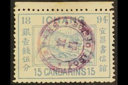 ICHANG LOCAL POST 1894 15ca Dull Light Blue, Otter, SG 7, Very Fine Used. For More Images, Please Visit Http://www.sanda - China