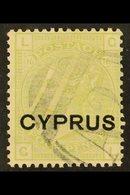 1880 4d Sage-green (plate 16), SG 4, Fine Used. For More Images, Please Visit Http://www.sandafayre.com/itemdetails.aspx - Cyprus