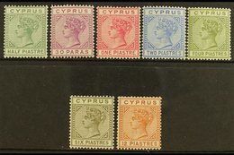 1892-94 Die II Complete Set, SG 31/37, Fine Mint, Very Fresh. (7 Stamps) For More Images, Please Visit Http://www.sandaf - Cyprus