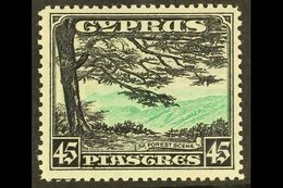 """1934 45pi Green And Black """"Forest Scene"""", SG 143, Never Hinged Mint. For More Images, Please Visit Http://www.sandafayre - Cyprus"""