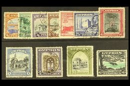 1934 Complete Pictorial Set, SG 133/143, Good Used. (11 Stamps) For More Images, Please Visit Http://www.sandafayre.com/ - Cyprus