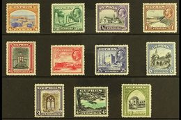1934 Pictorial Complete Set, SG 133/43, Very Fine Mint (11 Stamps) For More Images, Please Visit Http://www.sandafayre.c - Cyprus